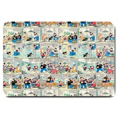 Old Comic Strip Large Doormat  by Valentinaart