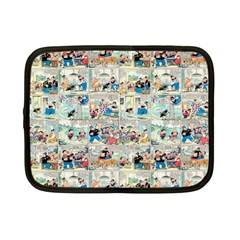 Old Comic Strip Netbook Case (small)  by Valentinaart