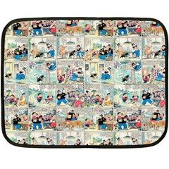 Old Comic Strip Fleece Blanket (mini) by Valentinaart