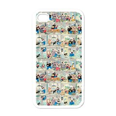 Old Comic Strip Apple Iphone 4 Case (white) by Valentinaart