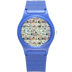 Old Comic Strip Round Plastic Sport Watch (s) by Valentinaart