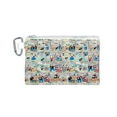 Old Comic Strip Canvas Cosmetic Bag (s) by Valentinaart