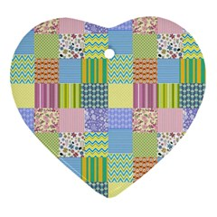 Old Quilt Ornament (heart) by Valentinaart