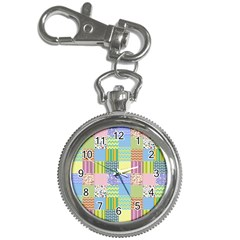 Old Quilt Key Chain Watches by Valentinaart