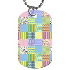 Old Quilt Dog Tag (one Side) by Valentinaart