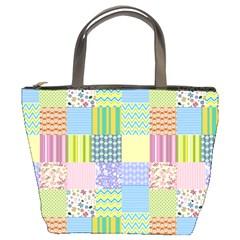 Old Quilt Bucket Bags by Valentinaart
