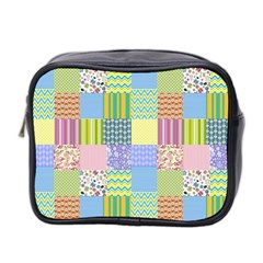 Old Quilt Mini Toiletries Bag 2 Side by Valentinaart