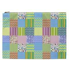 Old Quilt Cosmetic Bag (xxl)  by Valentinaart