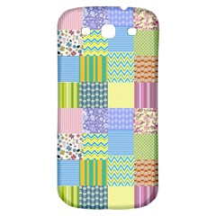 Old Quilt Samsung Galaxy S3 S Iii Classic Hardshell Back Case by Valentinaart