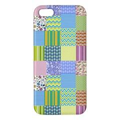 Old Quilt Apple Iphone 5 Premium Hardshell Case by Valentinaart