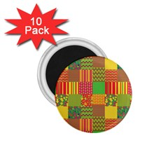Old Quilt 1 75  Magnets (10 Pack)  by Valentinaart