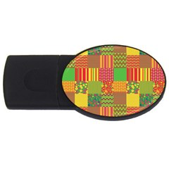 Old Quilt Usb Flash Drive Oval (2 Gb) by Valentinaart