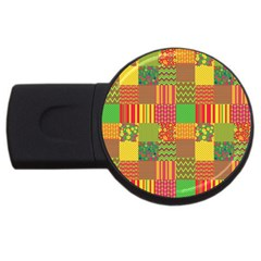 Old Quilt Usb Flash Drive Round (4 Gb) by Valentinaart