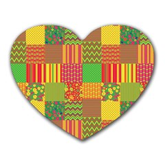 Old Quilt Heart Mousepads by Valentinaart