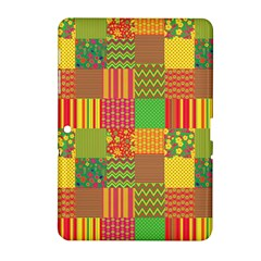 Old Quilt Samsung Galaxy Tab 2 (10 1 ) P5100 Hardshell Case  by Valentinaart