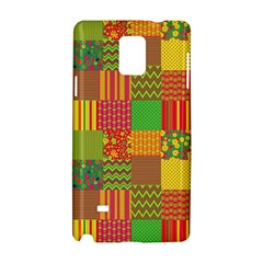 Old Quilt Samsung Galaxy Note 4 Hardshell Case by Valentinaart