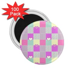Old Quilt 2 25  Magnets (100 Pack)  by Valentinaart