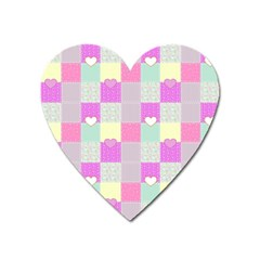 Old Quilt Heart Magnet by Valentinaart