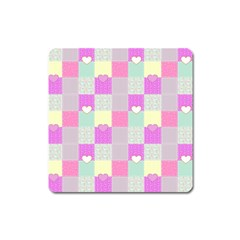 Old Quilt Square Magnet by Valentinaart