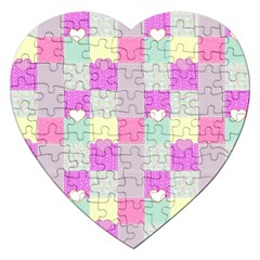 Old Quilt Jigsaw Puzzle (heart) by Valentinaart
