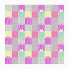Old Quilt Medium Glasses Cloth (2 Side) by Valentinaart