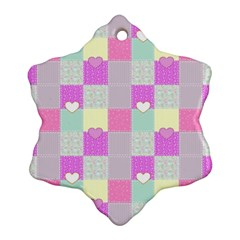 Old Quilt Snowflake Ornament (two Sides) by Valentinaart
