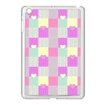 Old Quilt Apple iPad Mini Case (White) Front