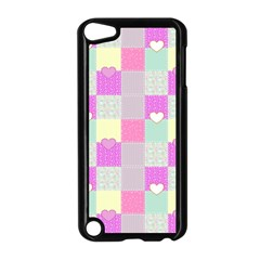 Old Quilt Apple Ipod Touch 5 Case (black) by Valentinaart