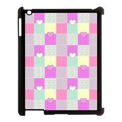 Old Quilt Apple Ipad 3/4 Case (black) by Valentinaart