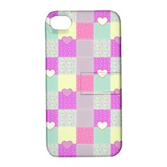 Old Quilt Apple Iphone 4/4s Hardshell Case With Stand by Valentinaart