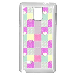 Old Quilt Samsung Galaxy Note 4 Case (white) by Valentinaart