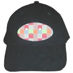 Patchwork Black Cap by Valentinaart
