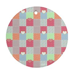 Patchwork Ornament (round) by Valentinaart
