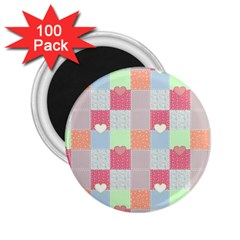 Patchwork 2 25  Magnets (100 Pack)  by Valentinaart