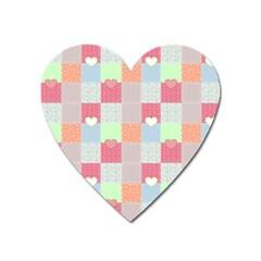 Patchwork Heart Magnet by Valentinaart