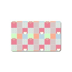 Patchwork Magnet (name Card) by Valentinaart