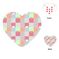 Patchwork Playing Cards (heart)  by Valentinaart