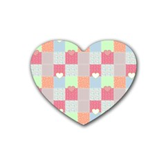 Patchwork Heart Coaster (4 Pack)  by Valentinaart