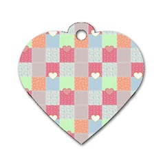 Patchwork Dog Tag Heart (one Side) by Valentinaart