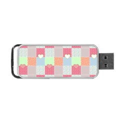 Patchwork Portable Usb Flash (one Side) by Valentinaart
