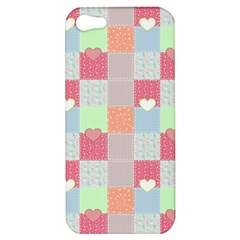 Patchwork Apple Iphone 5 Hardshell Case by Valentinaart