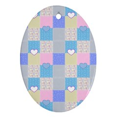 Patchwork Ornament (oval) by Valentinaart