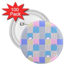 Patchwork 2 25  Buttons (100 Pack)  by Valentinaart