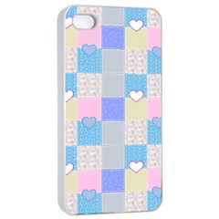 Patchwork Apple Iphone 4/4s Seamless Case (white) by Valentinaart