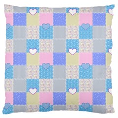 Patchwork Large Cushion Case (two Sides) by Valentinaart