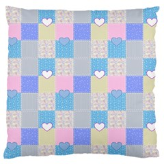 Patchwork Standard Flano Cushion Case (one Side) by Valentinaart