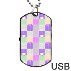 Patchwork Dog Tag Usb Flash (one Side) by Valentinaart