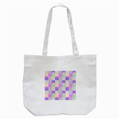 Patchwork Tote Bag (white) by Valentinaart