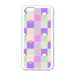 Patchwork Apple Iphone 6/6s White Enamel Case by Valentinaart