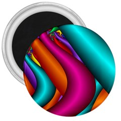 Fractal Wallpaper Color Pipes 3  Magnets by Amaryn4rt
